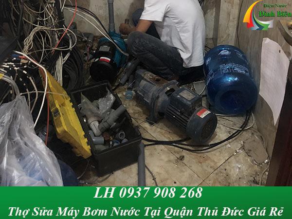 Thợ sửa máy bơm nước tại nhà quận thủ đức giá rẻ