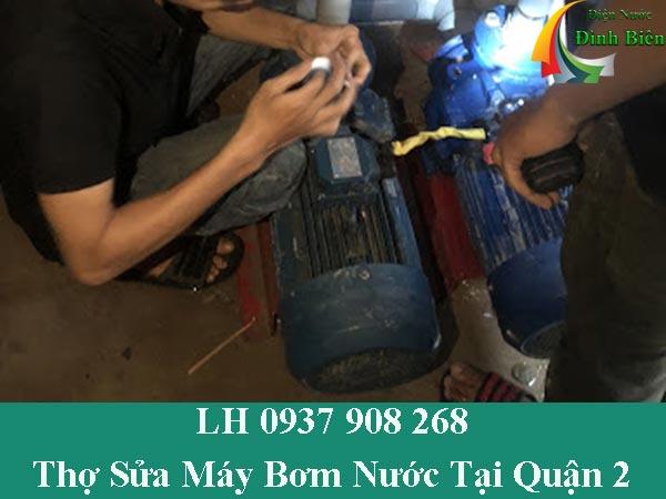 Thợ sửa máy bơm nước tại nhà quận 2 giá rẻ