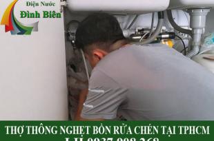 Thợ thông nghẹt bồn rửa chén tại TPHCM